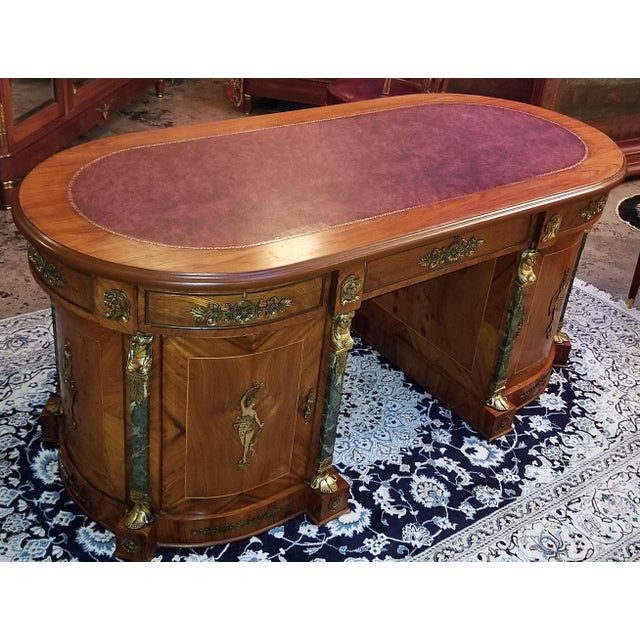 Presenting a fabulous Egyptian Classical Revival desk from the mid-20th century. From circa 1970. This is what is known as...