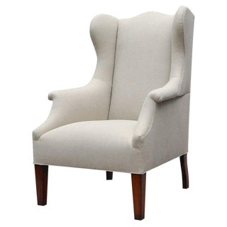 """Somerton"" by Lee Stanton Armchair Upholstered in Belgian Linen or Custom Fabric For Sale"