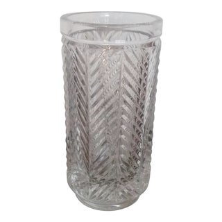 "Vintage Ralph Lauren ""Herringbone"" Crystal Vase For Sale"