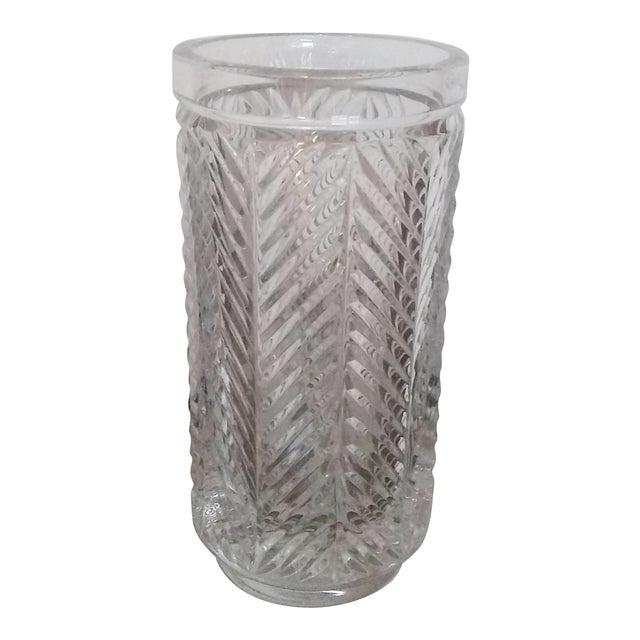 """Vintage Ralph Lauren """"Herringbone"""" Crystal Vase For Sale"""