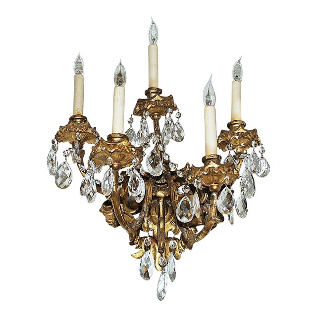 Italian Carved Sconces For Sale