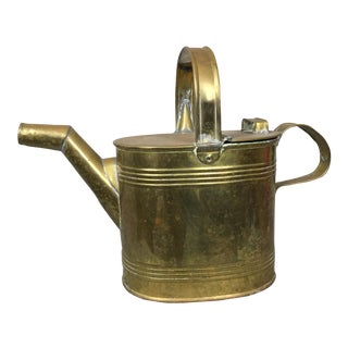 Vintage Brass Garden Watering Can For Sale