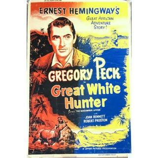 "1952 Original Full Size Movie Poster Ernest Hemingway's, ""Great White Hunter"" For Sale"