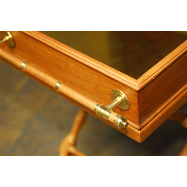 Vintage Italian Pine & Brass Butler's Tray Table For Sale In San Francisco - Image 6 of 8
