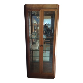 1990s Mission Stickley Cherry Curio Cabinet For Sale