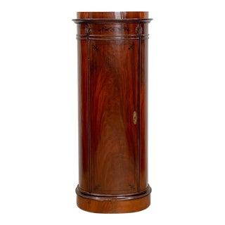 Danish Neoclassical Column Cabinet For Sale