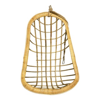 Two's Company Hanging Rattan Chair For Sale