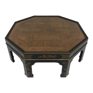 Black-And-Gold Octagonal Coffee Table