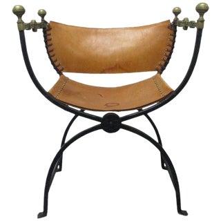 Italian Curule Savonarola Chair For Sale