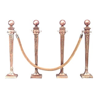 English Adam Gilt Iron Stanchions - Set of 4 For Sale