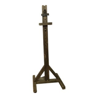 Amazing Primitive Wood Easel For Sale