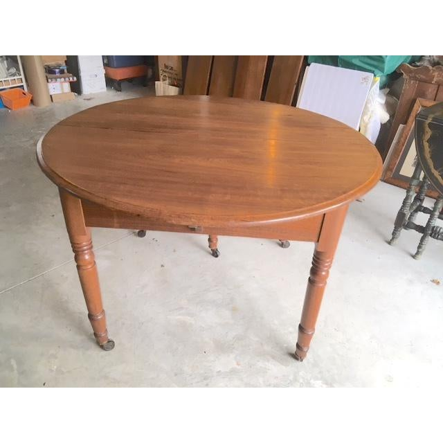 Antique Walnut Dining Table With Leaves For Sale - Image 13 of 13