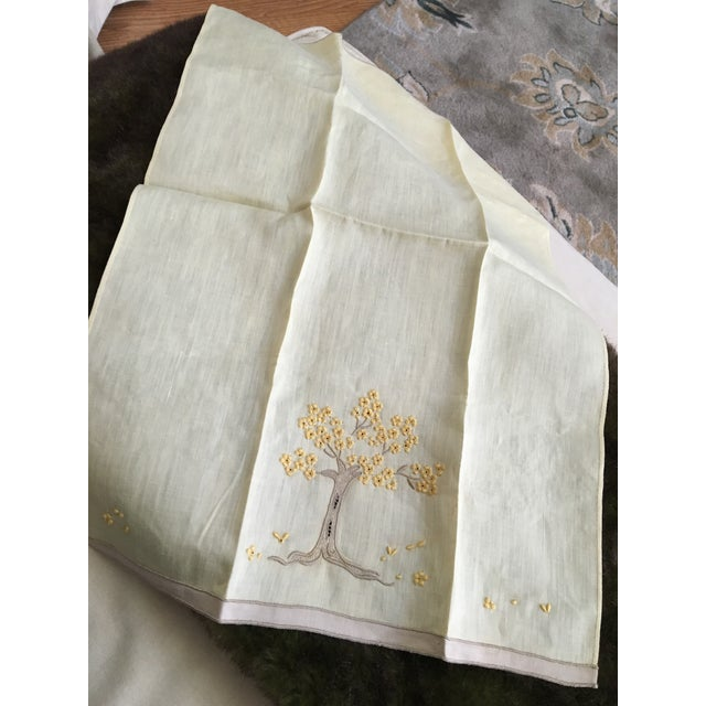 Vintage Embroidered Tree Tea Towel - Image 9 of 10
