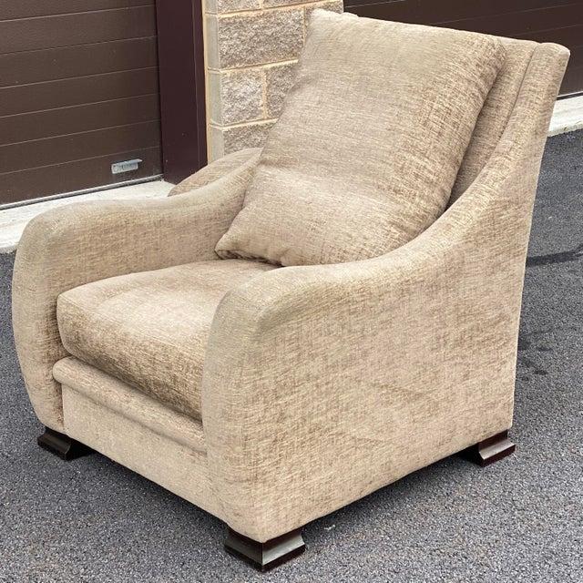 Wood RJones Lounge Chair & Ottoman For Sale - Image 7 of 13