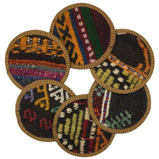 Kilim Coasters Set of 6 | Ganiçelebi For Sale