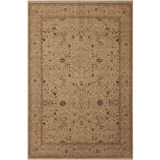 Boho Chic 1980s Antique Tabriz Pak-Persian Taunya Ivory Wool Rug - 9'1 X 12'1 For Sale