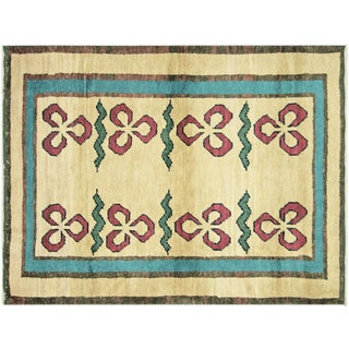 "1970s Turkish Nomadic Long Pile Tulu Rug - 4'9""x6'7"" For Sale"