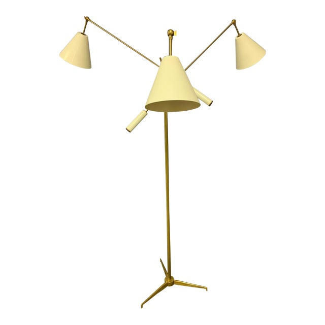 1950s Triennial Floor Lamp by Angelo Lelli for Arredoluce For Sale
