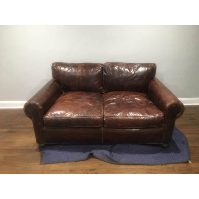 72 Lancaster Leather Sofa
