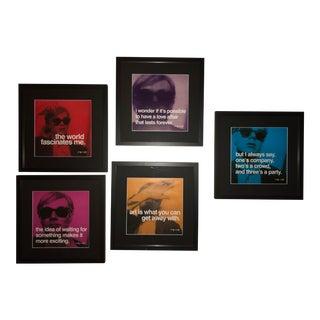 Andy Warhol Framed Poster Prints - Set of 5 For Sale