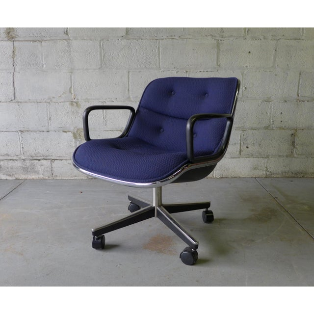 Mid Century Modern Pollock Office Chair by Knoll - Image 3 of 8