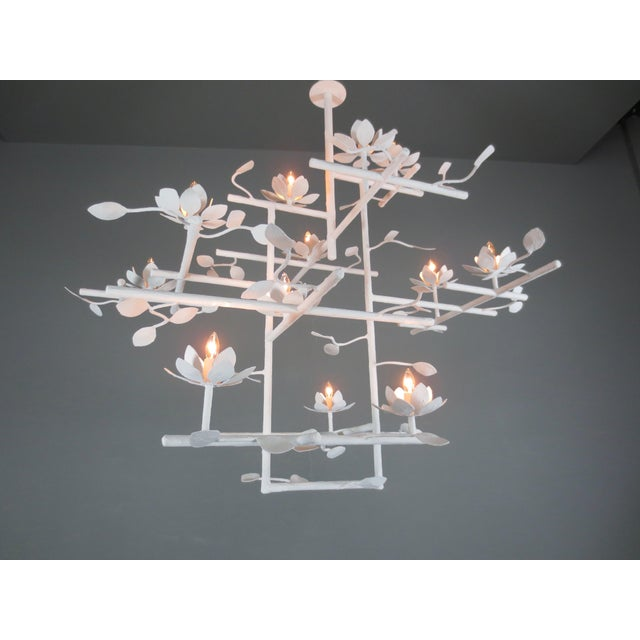 Not Yet Made - Made To Order Plaster Lotus Chandelier For Sale - Image 5 of 7