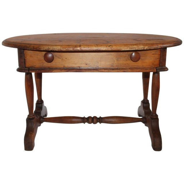 19th Century Pine Oval Coffee/Side Table For Sale - Image 9 of 9