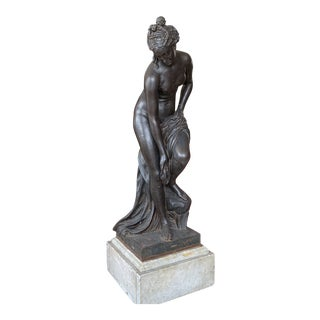 Late 19th Century Antique Val D'Osne Cast Iron Neoclassical Style Sculpture For Sale