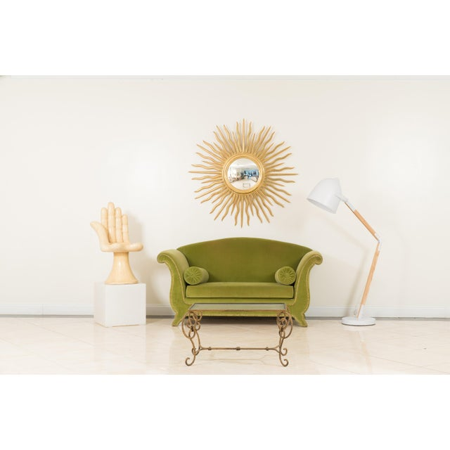 Art Moderne rope and tassel design gilt metal rectangular coffee table with inset glass top (20th century).
