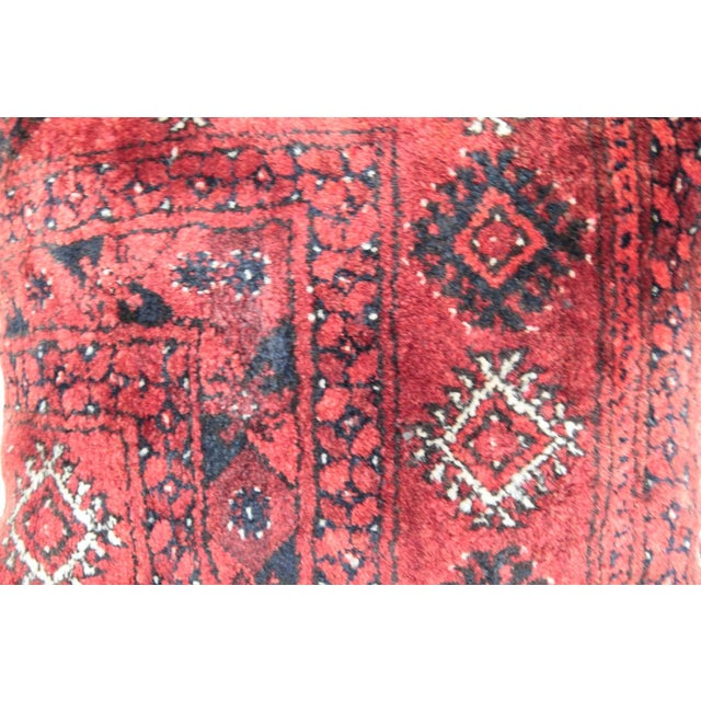 Turkish Vintage Carpet Cushion Cover For Sale - Image 5 of 7