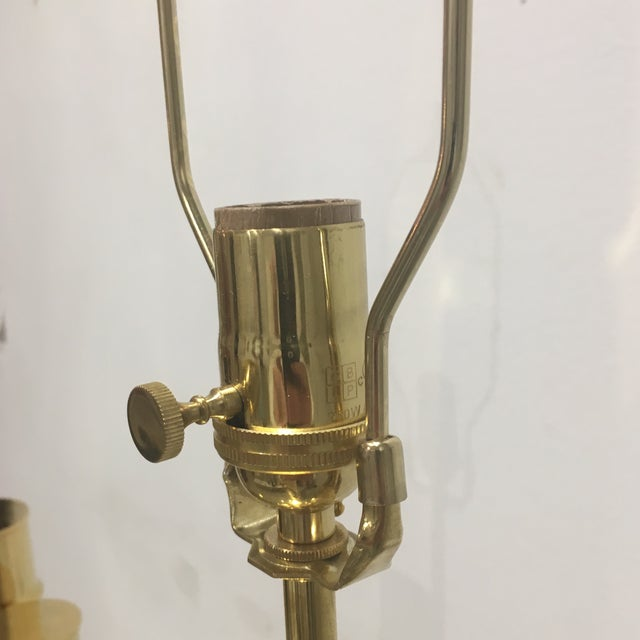 Brass 1960s Italian Brass Faux Bamboo Lamps - a Pair For Sale - Image 8 of 11
