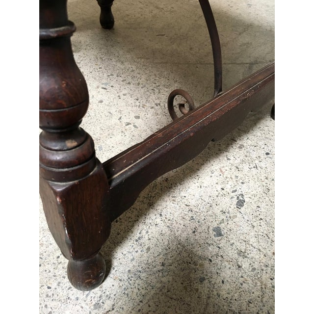 Iron Early 20th Century Spanish Side Table For Sale - Image 7 of 9