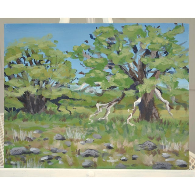 Oak Meadow Acrylic Painting For Sale In Sacramento - Image 6 of 6