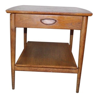 Vintage Mid-Century Modern 1960s Heritage Henredon One Drawer Wooden End Table For Sale