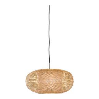 Ay Illuminate Woven Bamboo Lantern Pendant For Sale