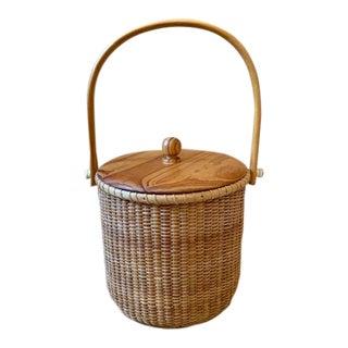 Nantucket Basket Ice Bucket For Sale