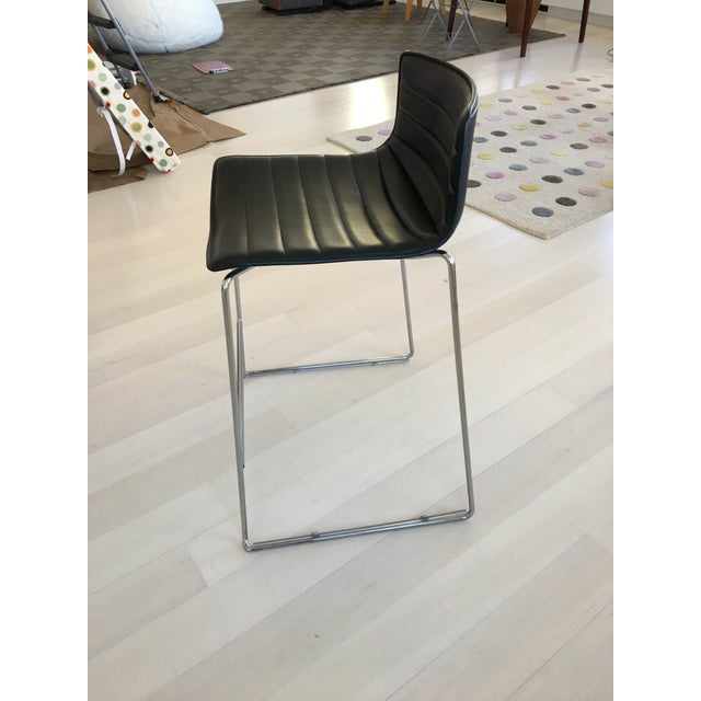 Black Leather Counter Stools by Arper - Set of 4 - Image 7 of 7