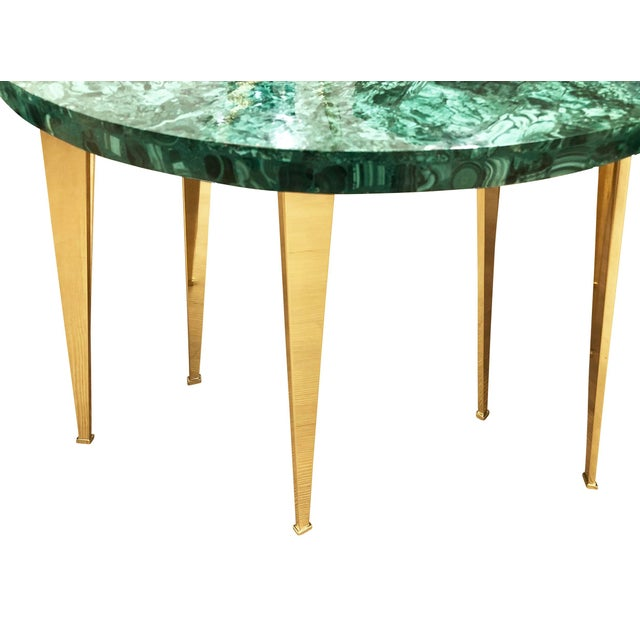 Contemporary Malachite Coffee Table or Side Tables by formA for Gaspare Asaro For Sale - Image 3 of 7