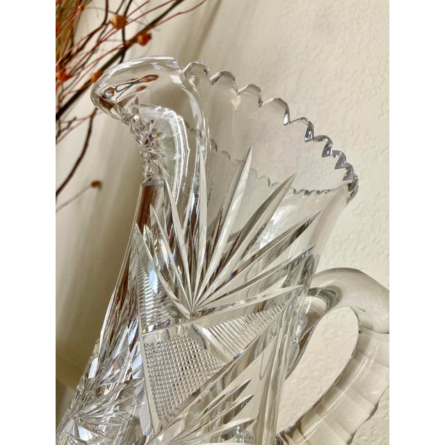 Early 20th Century American Brilliant Cut Glass Tankard For Sale In Kansas City - Image 6 of 13
