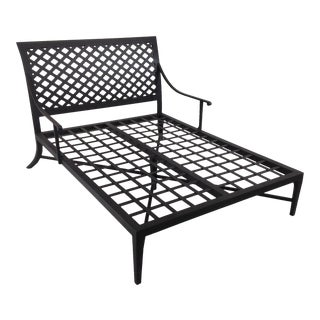 Modern Patio Double Chaise Lounge For Sale