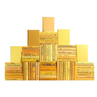 Modern Daffodil Book Wall : Set of Seventy Five Decorative Books