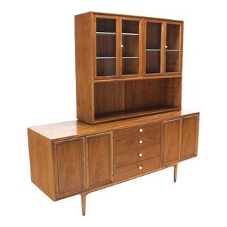 Mid-Century Modern Drexel Declaration Two-Part Cabinet For Sale
