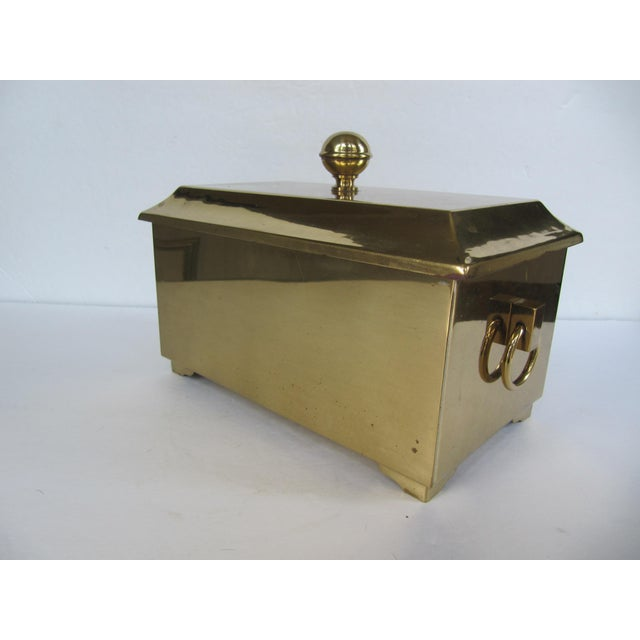 Traditional Brass Lided Box For Sale - Image 3 of 13