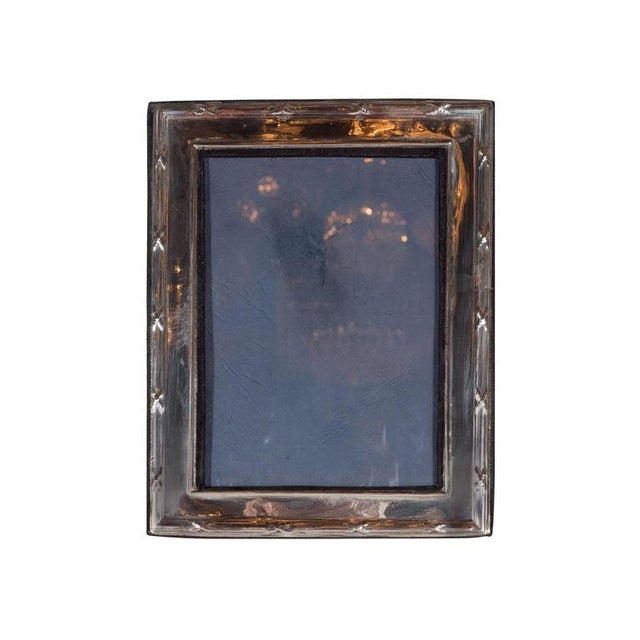 Elegant Sterling Silver Ribbon and Reed Picture Frame For Sale In New York - Image 6 of 7