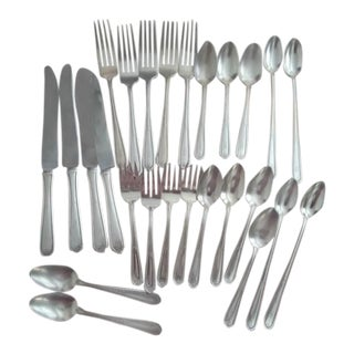 Antique Edwardian Sterling Silver Flatware Place Settings- 26 Pc. Set For Sale