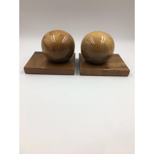 Vintage Myrtle Wood Bookends - a Pair For Sale - Image 4 of 4