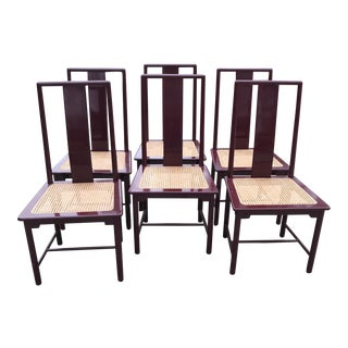 80's Italian Lacquer Dining Chairs - Set of 6