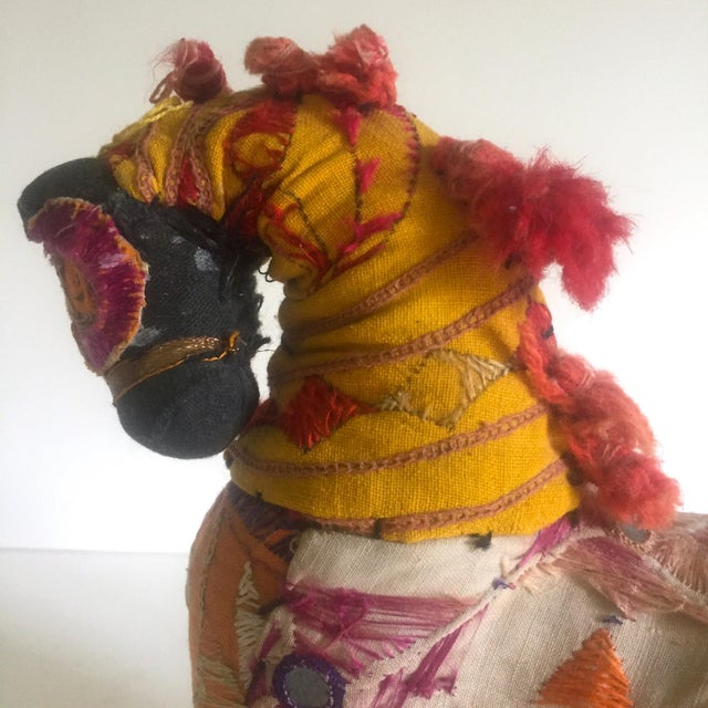 Vintage Indian Patchwork Horse Figurine For Sale - Image 11 of 11
