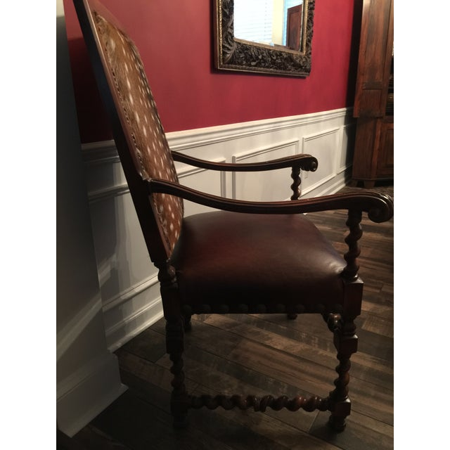 Brown Old Hickory Tannery Dining Chairs - A Pair For Sale - Image 8 of 13