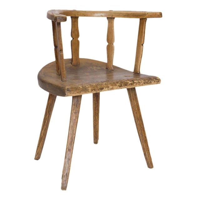 Brown Early 19th Century English Cottage Chair For Sale - Image 8 of 8